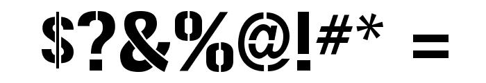 Gunplay-Regular Font OTHER CHARS