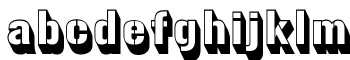 Gunplay3D-Regular Font LOWERCASE