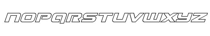 Gunship Outline Italic Font UPPERCASE