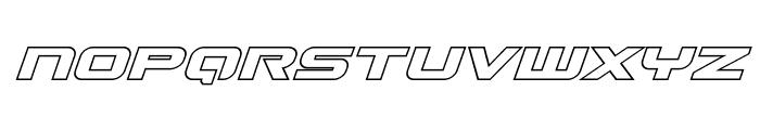 Gunship Outline Italic Font LOWERCASE