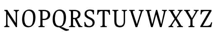 Gupter Regular Font UPPERCASE