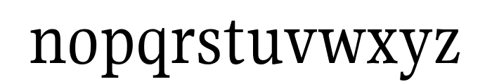 Gupter Regular Font LOWERCASE
