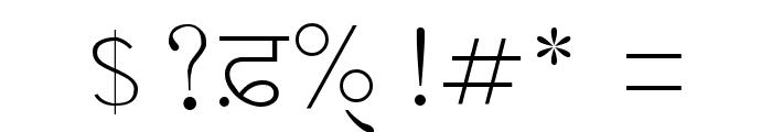 GurbaniAkharSlim Font OTHER CHARS