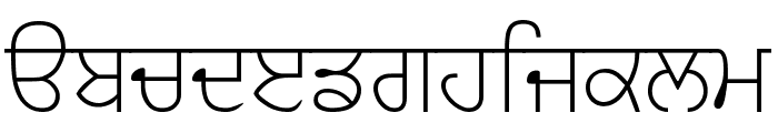 GurbaniAkharSlim Font LOWERCASE