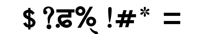 GurbaniAkharThick Font OTHER CHARS