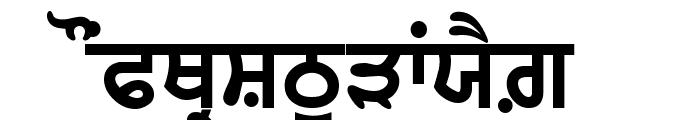 GurbaniAkharThick Font UPPERCASE