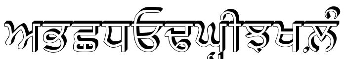 GurbaniRaised Font UPPERCASE