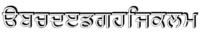 GurbaniRaised Font LOWERCASE