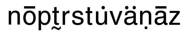 GurbaniRomanizing Font LOWERCASE