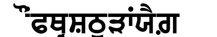 GurbaniWebThick Font UPPERCASE