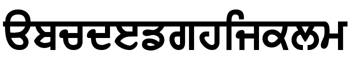 GurbaniWebThick Font LOWERCASE