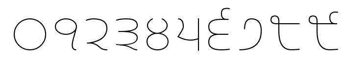 Gurvetica a1 Thin Font OTHER CHARS