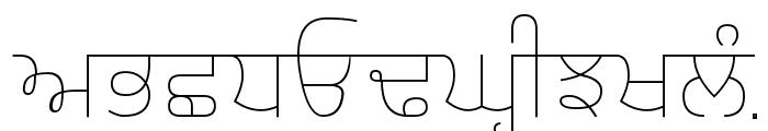 Gurvetica a1 Thin Font UPPERCASE