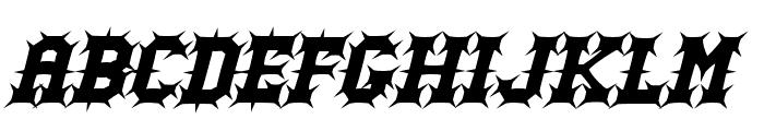 Gutcruncher Font UPPERCASE