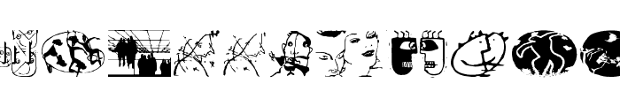 GutenbergGoesAbstract Font LOWERCASE