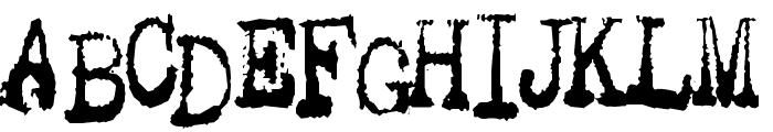 Gutter Vomit Font UPPERCASE