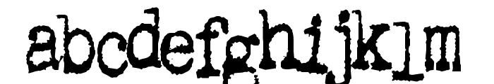 Gutter Vomit Font LOWERCASE