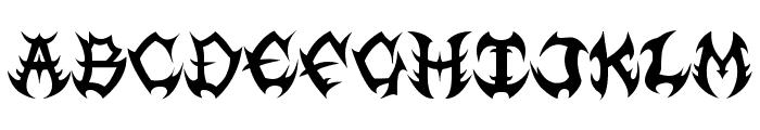 Guttural Font UPPERCASE