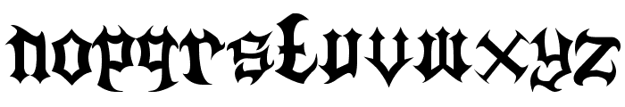 Guttural Font LOWERCASE