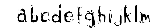 guillotine Font LOWERCASE