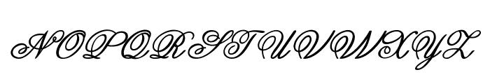 Guilden-BoldItalic Font UPPERCASE
