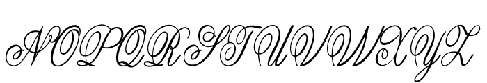 Guilden-CondensedItalic Font UPPERCASE