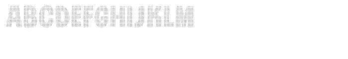 Gumdrop Halftone Font UPPERCASE