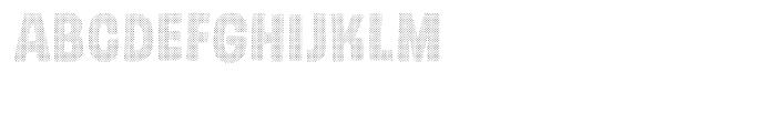 Gumdrop Halftone Font LOWERCASE