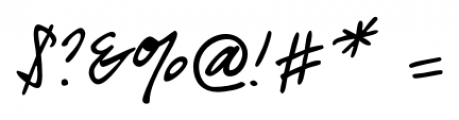 Guga Handwriting Regular Font OTHER CHARS