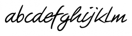 Guga Handwriting Regular Font LOWERCASE