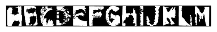 Gulitov Negative Font UPPERCASE