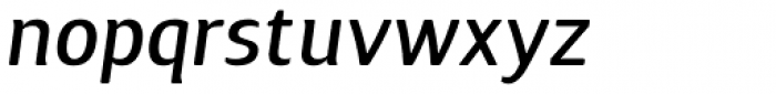 Guarda Sans Medium Italic Font LOWERCASE