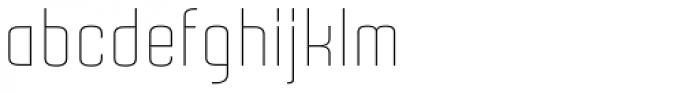 Gubia Light Alternate Font LOWERCASE