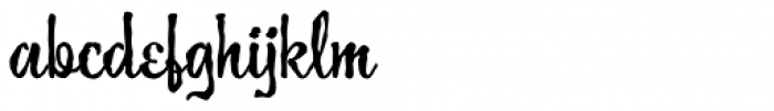 Guedel Script JF Font LOWERCASE