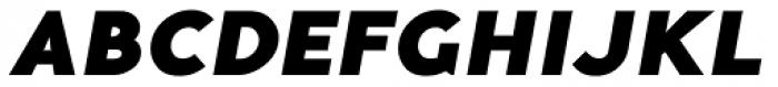 Guerrer Black Oblique Font UPPERCASE