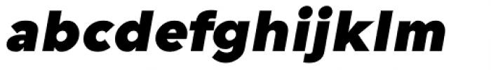 Guerrer Black Oblique Font LOWERCASE