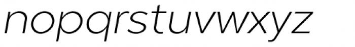 Guerrer Extralight Oblique Font LOWERCASE
