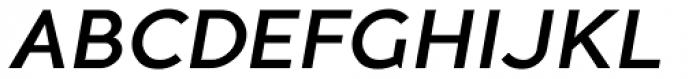 Guerrer Medium Oblique Font UPPERCASE