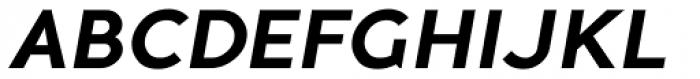Guerrer Semibold Oblique Font UPPERCASE