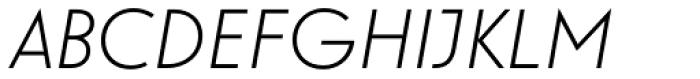 Guildford Pro Light Italic Font UPPERCASE