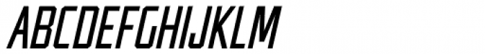 Guile Semi-Condensed Italic Font UPPERCASE
