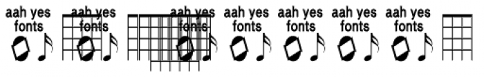 Guitar Chords Closed Font LOWERCASE