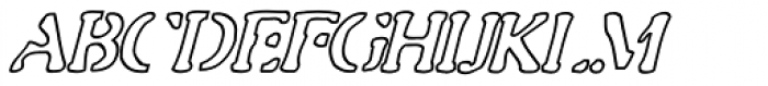 Gulag Out AOE Italic Font UPPERCASE