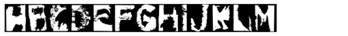 Gulitov Negative Font LOWERCASE