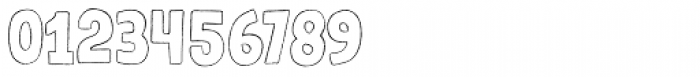 Gumdrop Outline Font OTHER CHARS