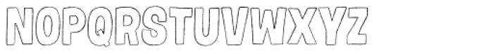 Gumdrop Outline Font UPPERCASE