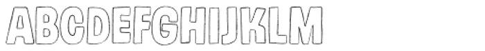 Gumdrop Outline Font LOWERCASE