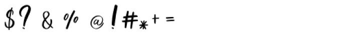 Gummy gum script Font OTHER CHARS