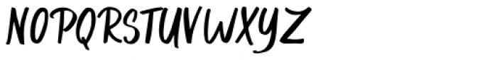Gummy gum script Font UPPERCASE