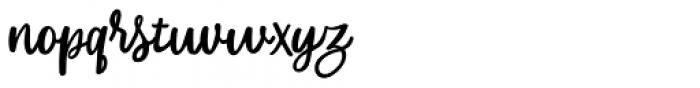 Gummy gum script Font LOWERCASE